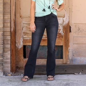 Black Flared Bootcut Jeans